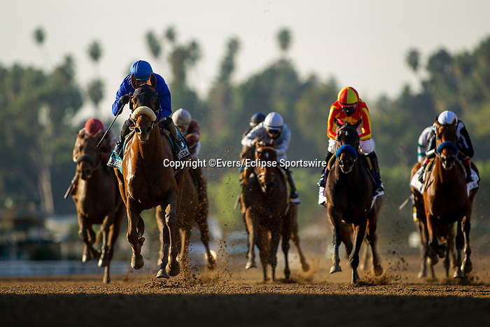 December 26, 2020: Fair Maiden with Ricardo Gonzalez up wins the La Brea Stakes at Santa Anita Park in Arcadia, California on December 26, 2020. Evers/Eclipse Sportswire/CSM