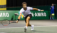 Rotterdam, The Netherlands, 2 march  2021, ABNAMRO World Tennis Tournament, Ahoy, First round doubles: Jean-Julien Rojer (NED).<br /> Photo: www.tennisimages.com/henkkoster