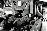 Summer '99-- Jakarta, Indonesia -- A group of men play cards in a PDI stronghold of Jakarta.