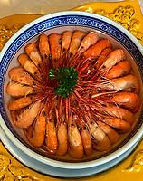 Yangzhou, Jiangsu, China.  Fresh-water River Shrimp.