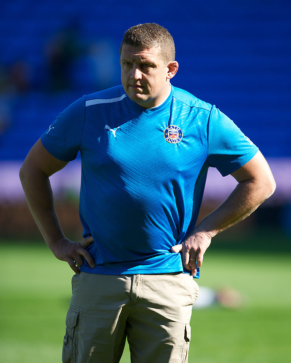 Toby Booth, Bath Rugby 1st Team Coach, looks on during the Aviva Premiership match between London Irish and Bath Rugby at the Madejski Stadium on Saturday 22nd September 2012 (Photo by Rob Munro)