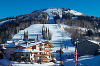 The Deer Valley Ski Resort, site of the 2002 Winter Olympic Alpine Ski Events. Park City, Utah.