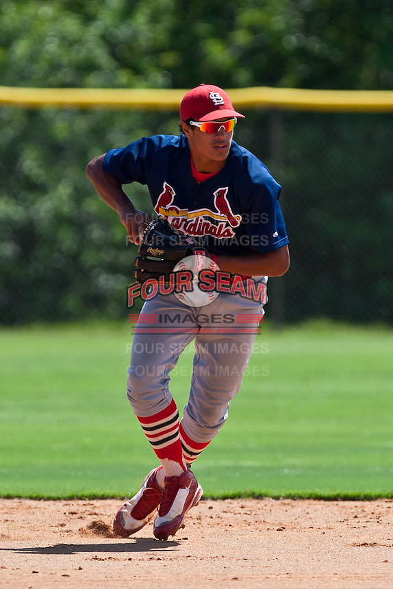 Sam Tuivailala of the Gulf Coast League Cardinals at the Digital Domain Park Complex in St. Lucie, Florida August 27, 2010. Tuivailala was the St. Louis Cardinals 3rd round pick (106th overall) of the 2010 MLB Draft. Photo By Scott Jontes/Four Seam Images