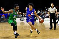 Ezra Vaigafa of the Wellington Saints dribbles the ball during the NBL - Wellington Saints v Manawatu Jets at TSB Bank Arena, Wellington, New Zealand on Sunday 13 June 2021.<br /> Photo by Masanori Udagawa. <br /> www.photowellington.photoshelter.com