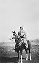 Iraq 1957 .Sheikh Marouf Barzinji riding a horse at Kader Karam, district of Kirkuk.Irak 1957.Sheikh Marouf Barzinji a cheval a Kader Karam, province de Kirkouk
