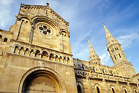 France, Burgundy, Macon, Bourgogne, Saone-et-Loire, Europe, wine region, St. Pierre Church in the city of Macon.