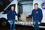 South Kerry Development Partnership, Rural Social Scheme Supervisors Adrian Griffin & David O'Neill just waiting for the green light to start lighting up Cahersiveen for Christmas.