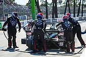 2017 Verizon IndyCar Series<br /> Toyota Grand Prix of Long Beach<br /> Streets of Long Beach, CA USA<br /> Sunday 9 April 2017<br /> Graham Rahal pit stop<br /> World Copyright: Gavin Baker/LAT Images