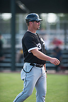 Chicago White Sox hitting coach Aaron Rowand (33) during an Instructional League game against the Oakland Athletics at Lew Wolff Training Complex on October 5, 2018 in Mesa, Arizona. (Zachary Lucy/Four Seam Images)
