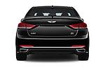Straight rear view of 2017 Genesis G80 3.8-AWD 4 Door Sedan Rear View  stock images