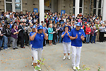 """The Capital City Cloggers, on Thursday, Oct. 30, 2014, take part in #NevadaSings!, a statewide sing-a-long of """"Home Means Nevada."""" Approximately 370 people took part in the Carson City portion of the event, which seeks to establish a new record for the most people in an American state to sing their state song at the same time."""