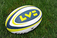 Match ball for the LV= Cup second round match between Ospreys and Northampton Saints at Riverside Hardware Brewery Field, Bridgend (Photo by Rob Munro)