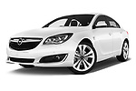 Stock pictures of low aggressive front three quarter view of 2016 Opel Insignia Cosmo 5 Door hatchback Low Aggressive