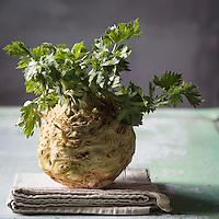Céleri-rave bio - Stylisme : Valérie LHOMME<br /> Organic Celery - Stylist: Valérie LHOMME