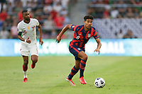 AUSTIN, TX - JULY 29: Nicholas Gioacchini #8 of the United States during a game between Qatar and USMNT at Q2 Stadium on July 29, 2021 in Austin, Texas.