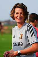 20200911 - TUBIZE , Belgium : Physiotherapist Fabienne Van de Steene pictured during a training session of the Belgian Women's National Team, Red Flames , on the 11th of September 2020 in Tubize. PHOTO SEVIL OKTEM   SPORTPIX.BE