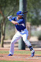 Kansas City Royals outfielder Lane Adams (45) during an Instructional League game against the Cincinnati Reds on October 14, 2014 at Goodyear Training Facility in Goodyear, Arizona.  (Mike Janes/Four Seam Images)