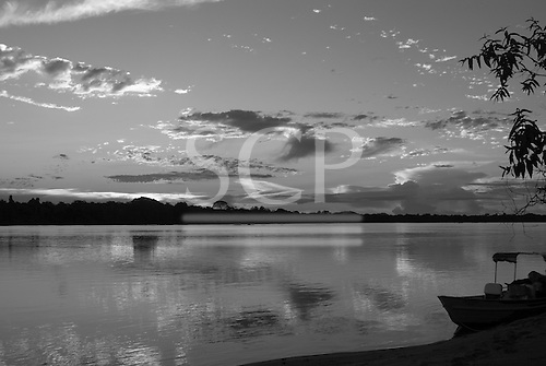 Pará State, Brazil. Xingu River. End of the day.