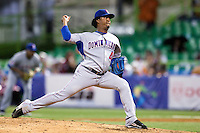 10 March 2009: #45 Pedro Martinez of the Dominican Republic pitches against Netherlands during the 2009 World Baseball Classic Pool D game 5 at Hiram Bithorn Stadium in San Juan, Puerto Rico. The Netherlands pulled off second upset to advance to the secound round. The Netherlands come from behind in the bottom of the 11th inning and beat the Dominican Republic, 2-1.