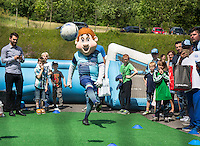 Bodger entertains during the Wycombe Wanderers 2016/17 Kit launch to the Public at Adams Park, High Wycombe, England on 10 July 2016. Photo by Andy Rowland.