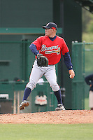 March 22nd 2008:  Thomas Palica of the Atlanta Braves minor league system during a Spring Training camp day at Disney's Wide World of Sports in Orlando, FL.  Photo by:  Mike Janes/Four Seam Images