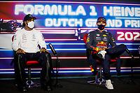 4th September 2021: Circuit Zandvoort, Zandvoort, Netherlands;   44 Lewis Hamilton GBR, Mercedes-AMG Petronas F1 Team, 33 Max Verstappen NED, Red Bull Racing, F1 Grand Prix of the Netherlands at Circuit Zandvoort