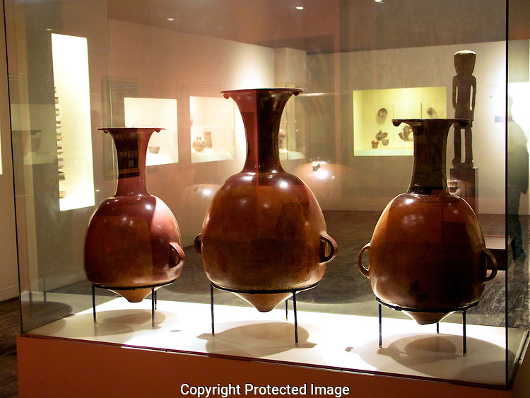 Incan jugs for carrying Inca beer.