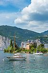 Italy, Veneto, Lake Garda, Malcesine-district Val di Sogno: bay Val di Sogno   Italien, Venetien, Gardasee, Malcesine-Ortsteil Val di Sogno: Bucht von Val di Sogno