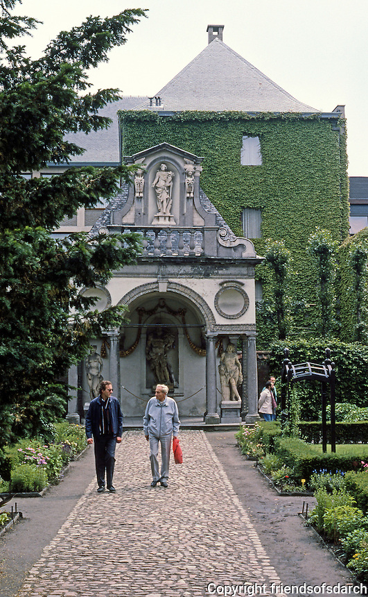 """Antwerp: Rubens House. Garden Pavilion """"conceived as a country temple"""".  Photo '87."""