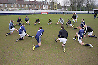 Wounded Knee FC players warm up before kick-off of the Hackney Gazette Cup Final at Leyton Football Club - 20/04/08 - MANDATORY CREDIT: Gavin Ellis/TGSPHOTO - Self billing applies where appropriate - Tel: 0845 094 6026