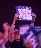 20.12.2014.  London, England.  William Hill PDC World Darts Championship.  Darts fans at the 2015 William Hill World Darts Championship.