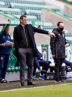 1st May 2021; Easter Road, Edinburgh, Scotland; Scottish Premiership Football, Hibernian versus St Johnstone;  Jack Ross Hibernian Manager