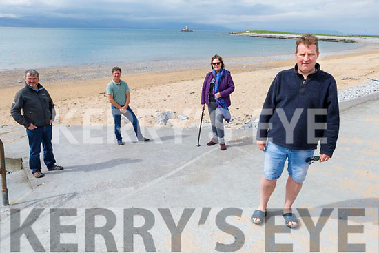 Members of the Fenit Community Group in Fenit on Saturday.<br /> Front : Mike O'Neill.<br /> Back l to r: John Moriarty, Liam Doyle and Annette Moore.