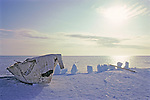 Inupiut Whaling Skin Boat On Arctic Ocean
