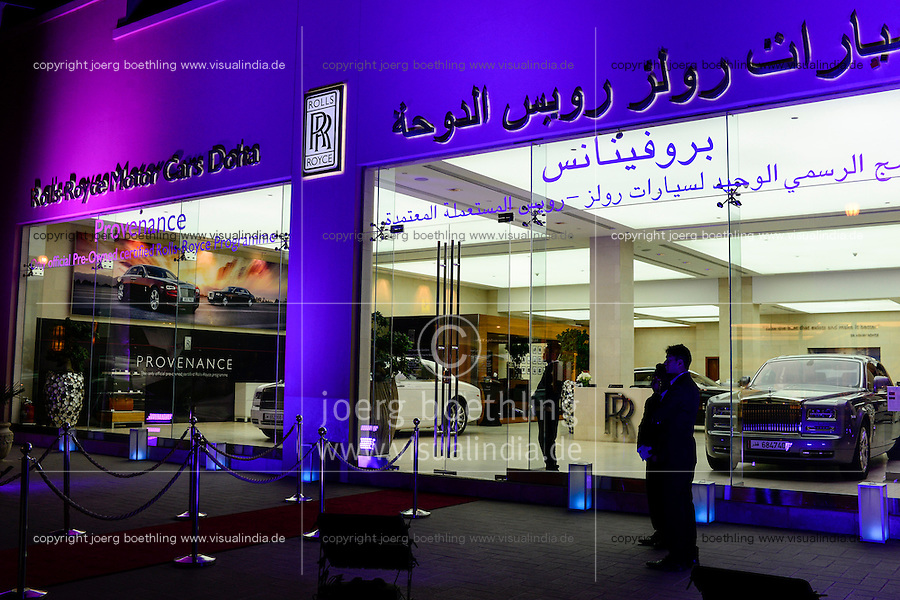 QATAR, Doha, luxury appartment space The Pearl, Rolls Royce showroom / KATAR, Doha, Luxus Appartmentsiedlung The Pearl, Rolls Royce Autosalon