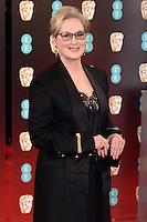 Meryl Streep<br /> at the 2017 BAFTA Film Awards held at The Royal Albert Hall, London.<br /> <br /> <br /> ©Ash Knotek  D3225  12/02/2017