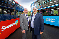2019 10 01 First Cymru Buses at the Park and Ride off Fabian Way in Swansea, Wales, UK.
