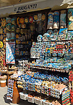 Italy, Calabria, beach resort Tropea: souvenirs shop