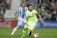 CD Leganes' Ruben Perez (l) and FC Barcelona's Leo Messi during La Liga match. September 26,2018. (ALTERPHOTOS/Acero)<br /> Liga Campionato Spagna 2018/2019<br /> Foto Alterphotos / Insidefoto <br /> ITALY ONLY