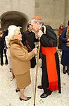 ASSUNTA ALMIRANTE CON CARDINALE GIOVANNNI BATTISTA RE<br /> MARIO D'URSO - COMPLEANNO CON MESSA - CAMPAGNANO ROMANO 04 2003