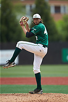 Charlotte 49ers starting pitcher Colton Laws (42) in action against the Marshall Thundering Herd at Hayes Stadium on April 23, 2016 in Charlotte, North Carolina. The Thundering Herd defeated the 49ers 10-5.  (Brian Westerholt/Four Seam Images)