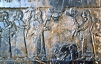 Assyria:  Submission of the Israelites.  Biblical History in Assyrian Sculpture.  Trustees of the British Museum 1986.