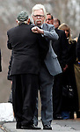 Woodbury, CT-20 December 2012-122012CM03-  Two men embrace during a wake for Sandy Hook Elementary School behavioral therapist Rachel D'Avino, at Munson-Lovetere Funeral Home Thursday afternoon in Woodbury.   Christopher Massa Republican-American