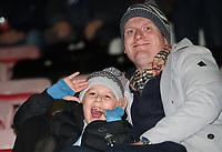 Blackburn Rovers' Fans at the start of today's match<br /> <br /> Photographer Rachel Holborn/CameraSport<br /> <br /> The EFL Sky Bet Championship - Wigan Athletic v Blackburn Rovers - Wednesday 28th November 2018 - DW Stadium - Wigan<br /> <br /> World Copyright © 2018 CameraSport. All rights reserved. 43 Linden Ave. Countesthorpe. Leicester. England. LE8 5PG - Tel: +44 (0) 116 277 4147 - admin@camerasport.com - www.camerasport.com