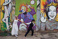 Merrymakers, Rio de Janeiro street carnival, Brazil - drunk bride, carioca´s lifestyle, irreverent and playful.