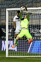 Chester, PA - Friday December 08, 2017: Ezana Kahsay, Nico Corti The Stanford Cardinal defeated the Akron Zips 2-0 during an NCAA Men's College Cup semifinal match at Talen Energy Stadium.