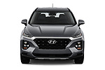 Car photography straight front view of a 2020 Hyundai Santa-FE SE 5 Door SUV Front View