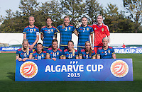 Vila Real de Santo Antonio, Portugal - March 4, 2015:   Sweden defeated Germany 4-2 during the opening game of the Algarve Cup at Vila Real Santo Antonio Stadium.