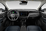 Stock photo of straight dashboard view of 2022 Chevrolet Bolt-EUV LT 5 Door suv Dashboard