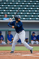 AZL Brewers third baseman Julian Jarrard (39) bats during a game against the AZL Cubs on August 1, 2017 at Sloan Park in Mesa, Arizona. Brewers defeated the Cubs 5-4. (Zachary Lucy/Four Seam Images)